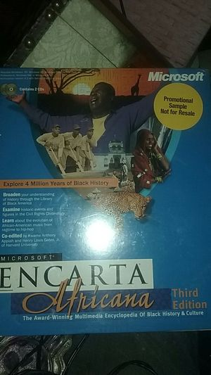 Microsoft Encarta Africana 3rd Edition explora 4 million years of black history for Sale in Tacoma, WA