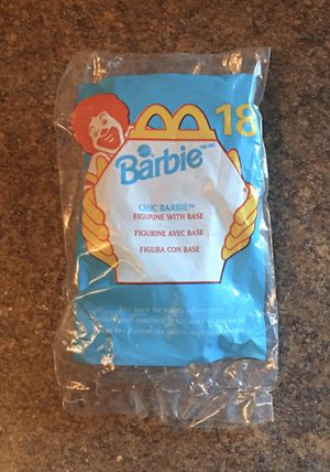 Vintage McDonald's Happy Meal 1999 #18 Barbie Chic Barbie Figurine - Brand New/Sealed for Sale in Ingleside, IL