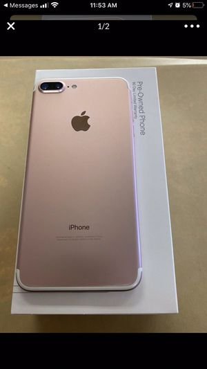 Check out this iPhone 7 Plus 128gb for boost mobile pre owned (90 day warranty through boost) only for new or port in customers.ROSE GOLD! I'm sellin for Sale in Bolingbrook, IL