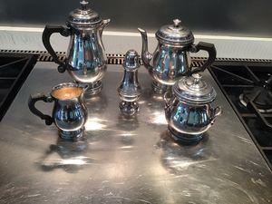 Silver platter- coffee , tea, sugar cubes , sugar powder for Sale in Litchfield Park, AZ