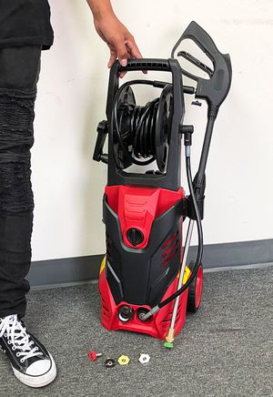 New $120 Electric Pressure Washer 5 Nozzles Built-in Soap Tank Hose Reel 3000PSI 1.9GPM for Sale in South El Monte, CA