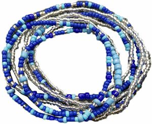 Waist Beads Body Jewelry, Colorful Belly Beads, Bead Jewelry, Belly Chains, Waist Chain (2 Piece) for Sale for sale  Torrance, CA