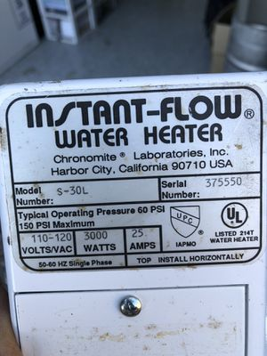 INSTANT HOT WATER HEATER for Sale in Escondido, CA