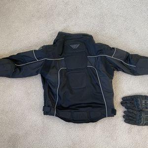 MOTORCYCLE JACKET w/ Gloves for Sale in Accokeek, MD