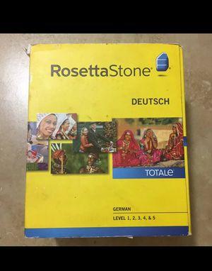 Rosetta Stone German Deutsch Level 1-5 for Sale in Largo, FL
