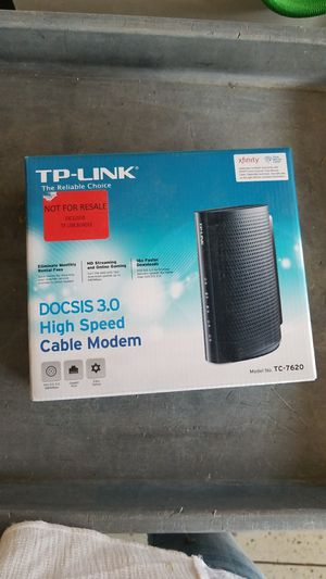 TP link cable modem for Sale in Alta Loma, CA