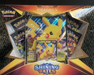 Pokemon Shining Fates Collection Pikachu V for Sale in Gold River,  CA