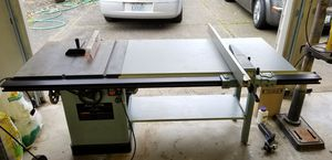 "Delta 1.5 HP 10"" Tilting arbor Table saw Unisaw 34-801 Extended Rip Fence wood working tools for Sale in Vancouver, WA"