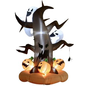 8ft LED Outdoor Halloween Inflatable Decoration - Dead Tree with Ghost on Top Pumpkins on Bottom for Sale in Plymouth, MA