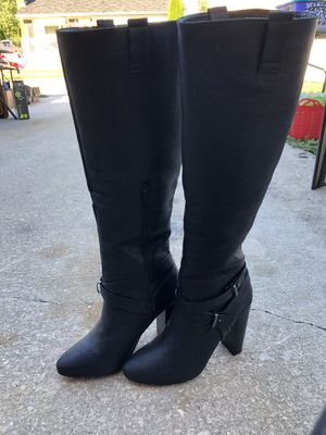 Black high heeled boots for Sale in Delaware City, DE