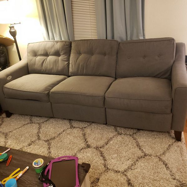 Custom Wayfair Couch With Powered Reclining Seats