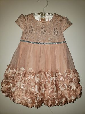 Like New Peach with Flowers Baby Girl Dress Size 18 Months (18M) for Sale in San Diego, CA
