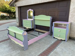 Ashley furniture full size girl bedroom set for Sale in Rancho Cucamonga, CA