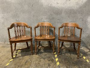 3 - Marble & Shattuck Antique Marble Bankers Chairs - Hand Carved for Sale in Portland, OR