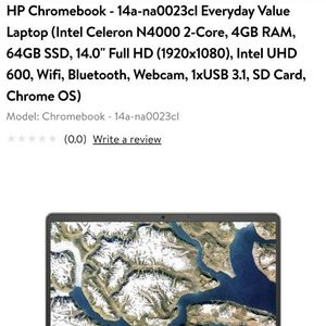 HP Chromebook ..14 ..New One .Refer Pics For Details for Sale in Naperville, IL