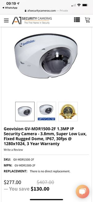 Geovision waterproof security camera for Sale in North Miami Beach, FL
