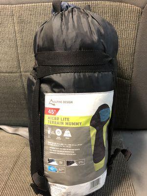 Alpine Design 45 degree micro lite terrain mummy sleeping bag for Sale in Honolulu, HI