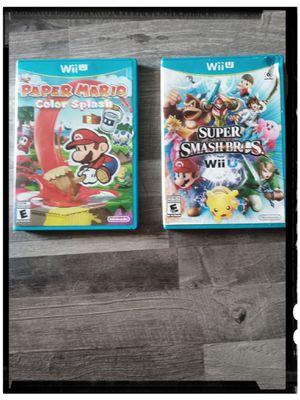 Wii U Mario Games 🏷️$50 Takes Both 🎮📀📀 . for Sale in Fort Walton Beach, FL