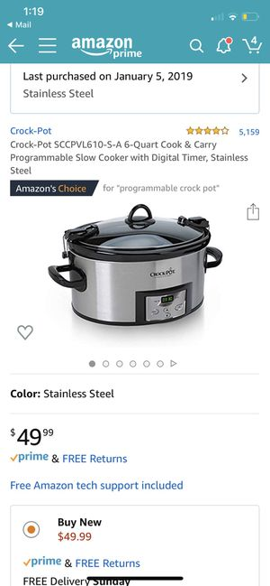 Crock-pot 6 qt used twice for Sale in St. Louis, MO