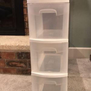 3 Drawer Plastic Storage Organizer for Sale in Happy Valley, OR