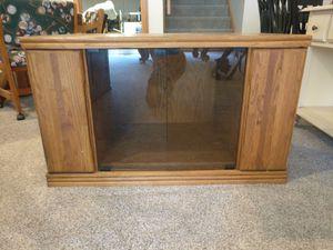 Solid oak media cabinet for Sale in Marietta, OH