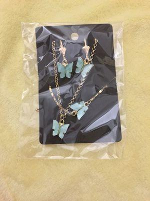 Butterfly 🦋 EARRINGS+Necklace+Bracelet Set for Sale in San Jacinto, CA