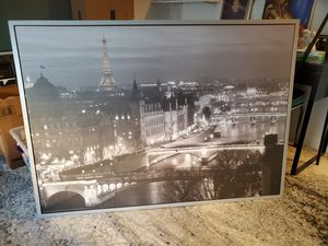 """55""""x40"""" Paris Canvas framed print for Sale in Los Angeles, CA"""