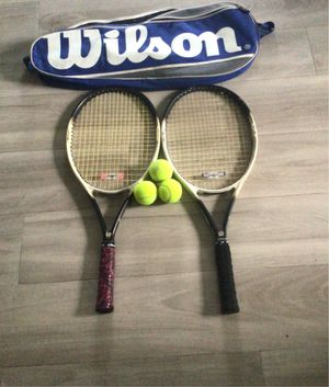 Two tennis rackets and a bag for Sale in Miami, FL