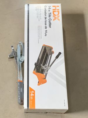 HDX 14 inch tile cutter and accessories for Sale in Buffalo, NY