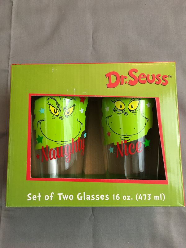 Grinch Glass Set