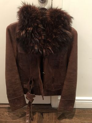 Winter jacket. Very warm and cozy! Real raccoon fur collar and sharp skin Sz S for Sale for sale  New York, NY