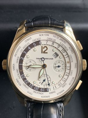 Girard Perregaux World Time Chronograph in 18K Gold, 43MM, Box & Papers for Sale in Boston, MA