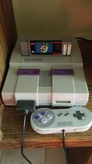 Super Nintendo with 1 game and controller for Sale in Tempe, AZ