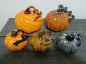 glass blown pumpkins for Sale in Dallas, TX