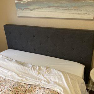 ZINUS Shalini Upholstered Platform Bed Frame in Dark Grey - Queen for Sale in Tukwila, WA