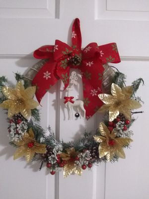 Hand made Christmas wreath for Sale in MONTGOMRY VLG, MD