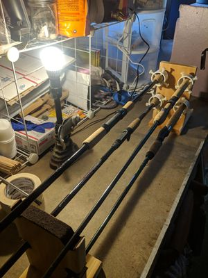 4 fishing rod pole dryer roller for repair building for Sale in Tahuya, WA