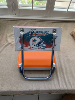 Miami Dolphins Folding Bleacher Chair for Sale in Plantation, FL