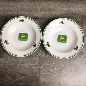 "John Deere 9"" Soup Bowl Tractors Farm Licensed Gibson Dinner Salad Deer Green for Sale in Rancho Cucamonga, CA"