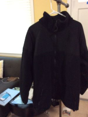 Peckham Polartec Thermal300Pro Full zip Black Fleece Jacket Cold Weather Military Used Small. Condition is Used. for Sale in Alexandria, VA