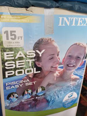 POOL Intex 15x48 for Sale in Kingsley, MI