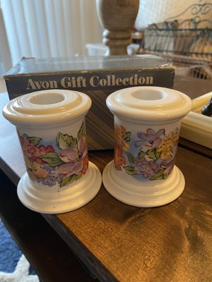 Vintage Avon Porcelain Candle Holders for Sale in Tampa, FL