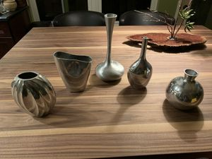 Lot of 5 silver vases for Sale in Colorado Springs, CO