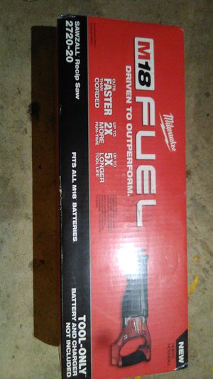 Milwaukee M18 fuel sawzall for Sale in Bakersfield, CA