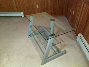 TV Stand with Glass Shelves for Sale in Pottstown, PA