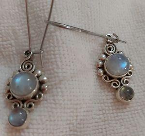Sterling silver and moonstone earrings. for Sale in Phoenix, AZ