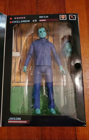 Exclusive Neca Friday The 13th 8 Bit Jason Voorhees Collectible Action Figure Toy ( Flip Open Flap Plays Theme Song ) for Sale in Chicago, IL
