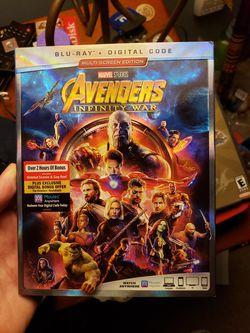 Avengers Infinity War Bluray BRAND NEW for Sale in Clarksburg,  WV