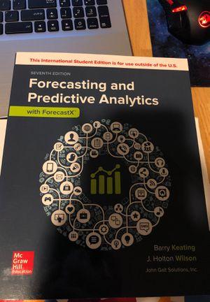 Forecasting and Predictive Analytics 7th e for Sale in Boylston, MA