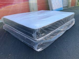 Queen Regular Mattress and Box Spring Set- 2Pc for Sale in Pompano Beach, FL